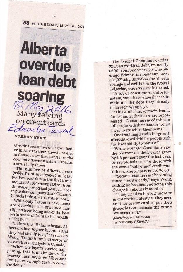 Alberta overdue debt soaring