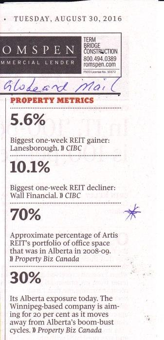 Artis readjusts REIT Alberta portfolio30-8-16 GM